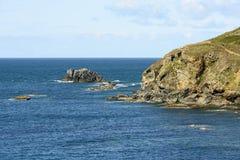 Man o'War rocks at Lizard point, Cornwall Stock Image