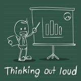 Man och affärsdiagram stock illustrationer