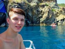 Man och havet Royaltyfri Foto