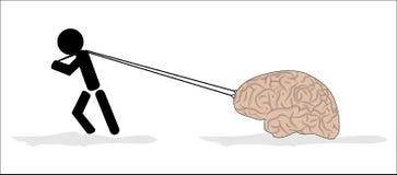 Man och hjärna Royaltyfri Fotografi