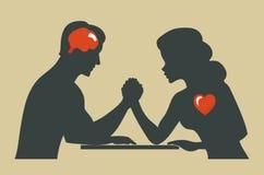 Man och kvinna stock illustrationer
