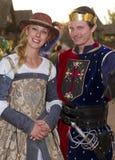 Man och kvinna för Arizona renässansfestival Royaltyfri Bild
