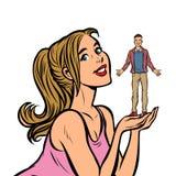 Man och kvinna för par förälskad ung vektor illustrationer