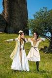 Man och kvinna i nationell klänning av Georgia Arkivfoto