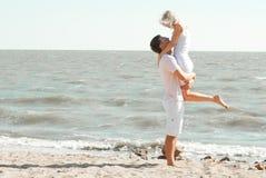 Man och kvinna på havet Royaltyfria Foton