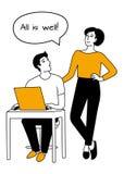 Man och kvinna tappar familjen Plan illustration för vektor arkivfoto
