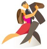 Man- och kvinnadanstango royaltyfri illustrationer