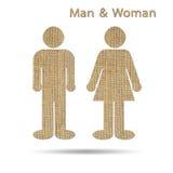 Man- och kvinnasymbol Arkivbilder