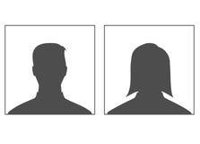 Man och kvinnlig - profilbild. Royaltyfria Bilder