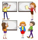 Man och lärarinnor Royaltyfria Bilder