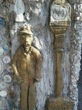 Man- och lampstolpe Arkivbilder