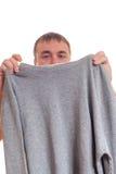 Man och pullover. Royaltyfri Foto