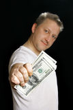 Man offering money Stock Photography
