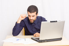 Man at office Stock Photography