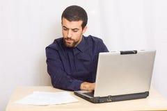 Man at office Stock Image