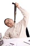 Man in a office stock photos