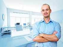 Man in office Royalty Free Stock Image