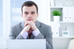 Man in office Royalty Free Stock Images