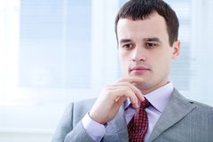 Man in office Stock Images