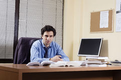 Man at office Stock Images