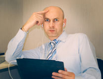 The man in the office Stock Photography