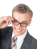 Portrait of a successful manager in glasses Stock Photo