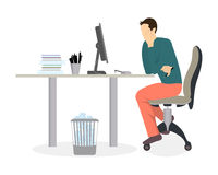 Man in office. Royalty Free Stock Photo