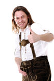 Man at Oktoberfest Stock Images