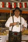 Man Oktoberfest in Gerlos Austria royalty free stock images