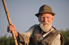 Man, Old, Fisherman, Portrait Stock Image