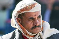 Man in the old town of Sanaa (Yemen). Royalty Free Stock Image