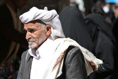 Man in the old town of Sanaa (Yemen). Stock Photos