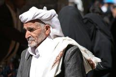 Man in the old town of Sanaa (Yemen). December 21, 2008 - Sanaa (Yemen), everyday life in the old town stock photos