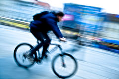 Man On A Bike Stock Images