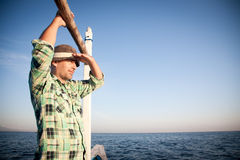 Man On A Boat Stock Photos