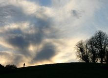 Man On A Hill Royalty Free Stock Images