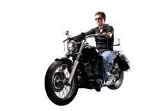 Man On Motorbike Royalty Free Stock Photography