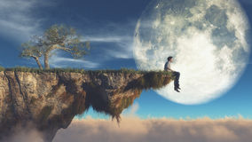 Free Man On The Edge Of A Cliff Stock Photos - 78449263