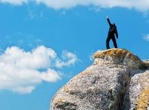 Free Man On Top Of Mountain Stock Image - 20804321
