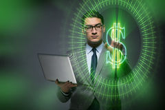 The man in online currency trading concept Stock Photos
