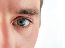 Man oog Stock Foto