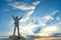 A man with open arms Royalty Free Stock Images