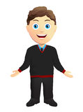 Man With Open Arms. In a black pullover Stock Image