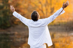 Man open arms Stock Images