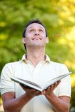 Man with an open book Royalty Free Stock Photography