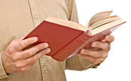 Man with open book Royalty Free Stock Image