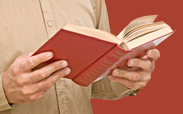 Man with open book Stock Image