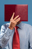 Man with open book Royalty Free Stock Photos