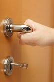 Man open the door Royalty Free Stock Image