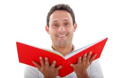 Man with an opened book Royalty Free Stock Image
